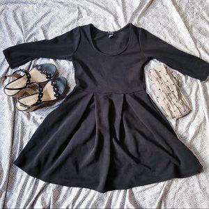 Classic Black Dress & Hearts Nylons
